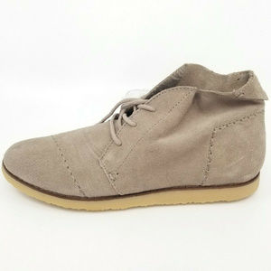 Toms Womens Mateo Chukka Cow Suede Chocolate Brown